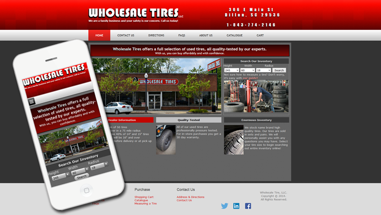 wholesale website design