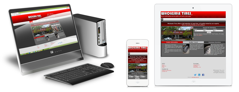Website viewed on multiple devices.
